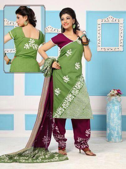 Wax Batik Dress Material 02