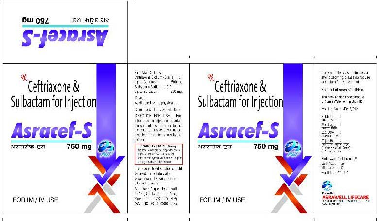 Ceftriaxone & Sulbactum for Injection 750 mg