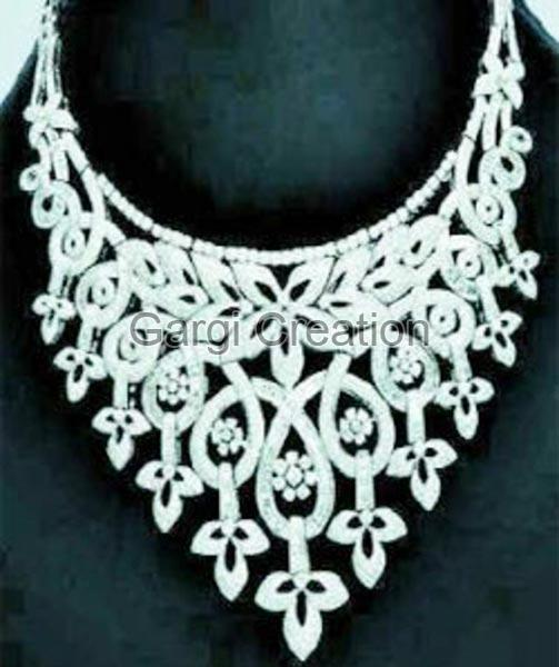 American Diamond Necklace Set 01