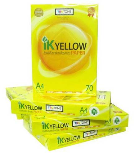 Ik Yellow A4 Copy Paper