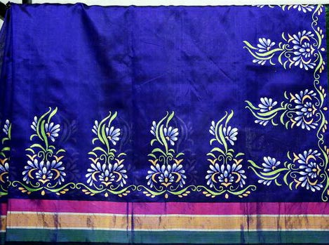 Hand Painted Sarees 01