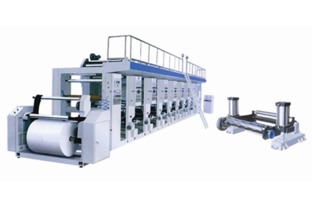 Single Two Color Rotogravure Printing Machine
