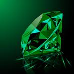 Round Diamond Cut Emerald Stone 03