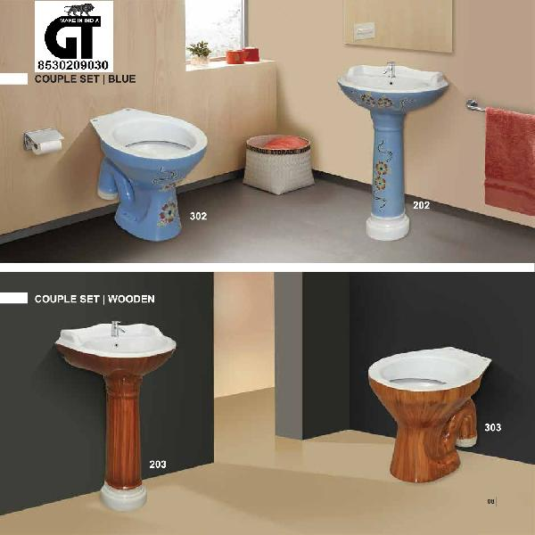 Vitrosa Wash Basin & Water Closet Set 01