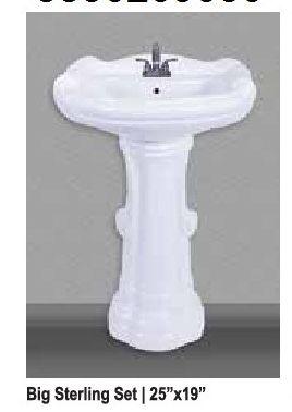 Ceramic Pedestal Wash Basin