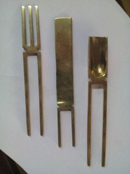 Brass Cutlery Set 02