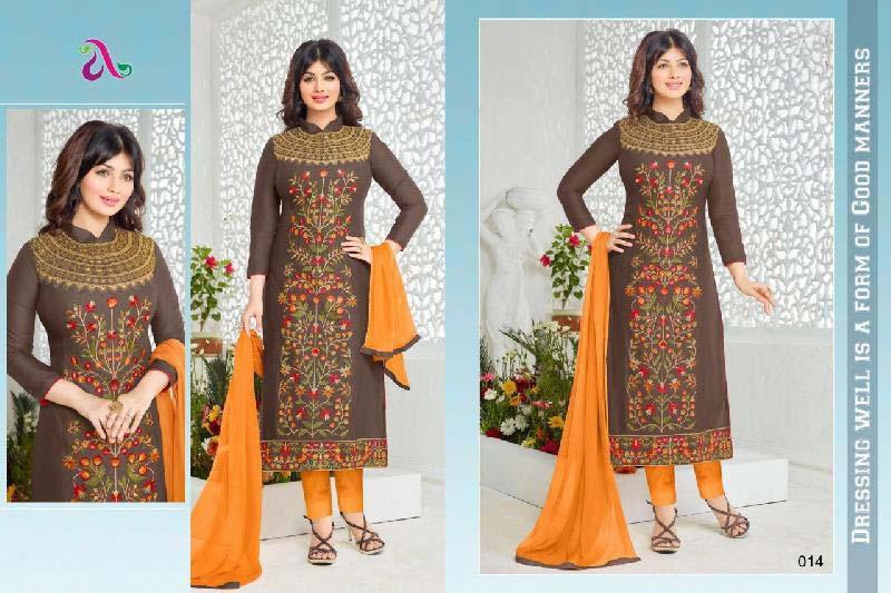 Cotton Unstitched Churidar Suits 03