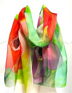 Hand Printed Scarf 02