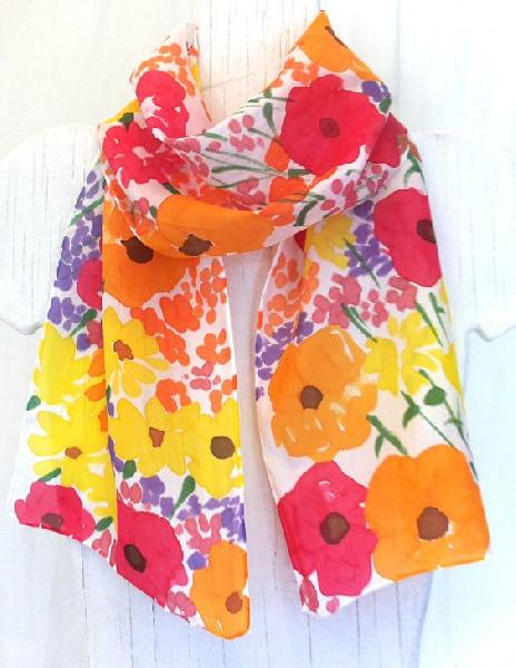 Hand Printed Scarf 06