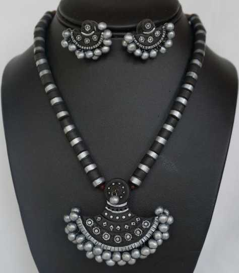 Terracotta Necklace Set (AT-1017)