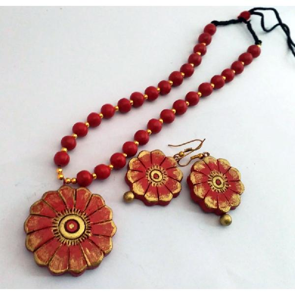 Terracotta Necklace Set (AT_1100)