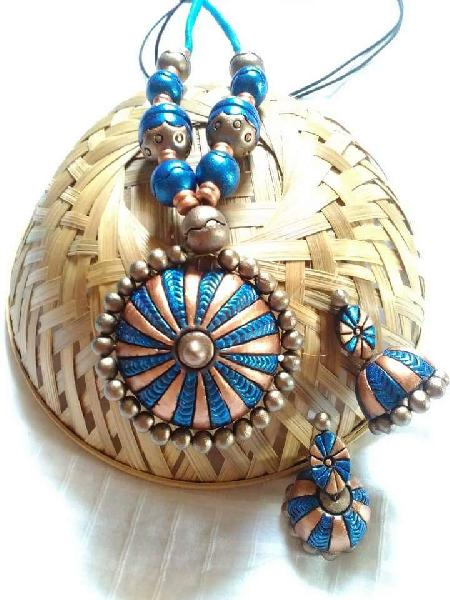 Terracotta Necklace Set (AT_1123)