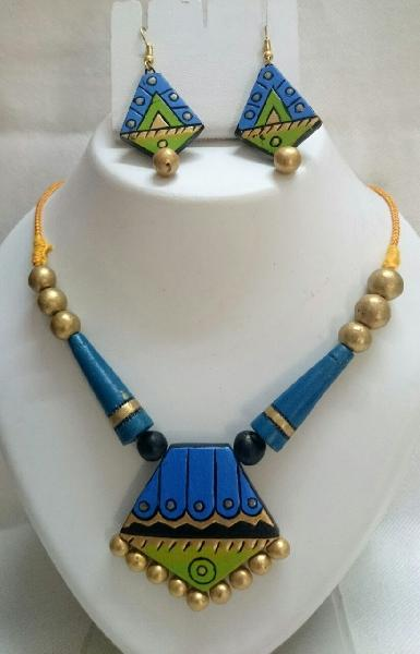 Terracotta Necklace Set (AT_1134)