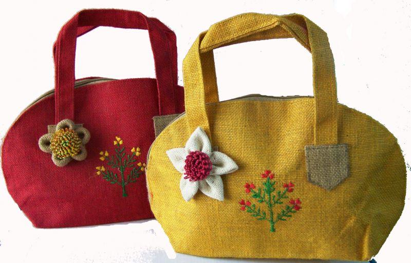 Women Jute Hand Bag 01
