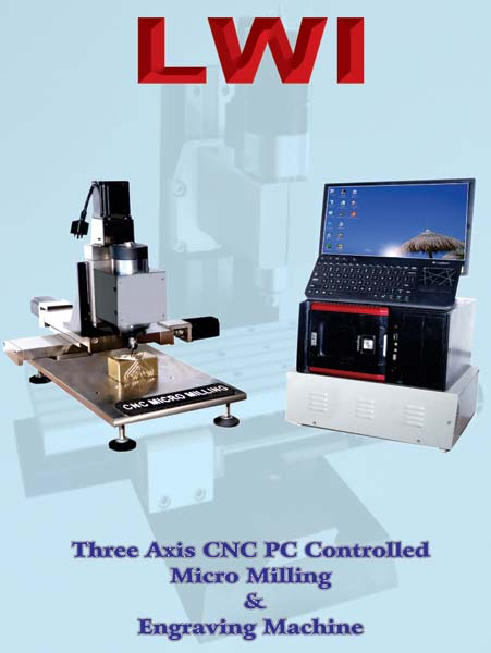 Three Axis CNC PC Controlled Micro Milling & Engraving Machine