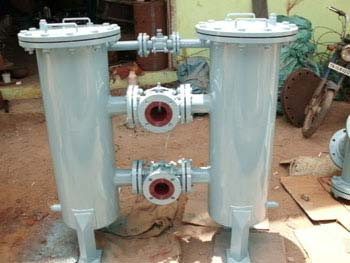Duplex Type Strainer With Change Over Valves