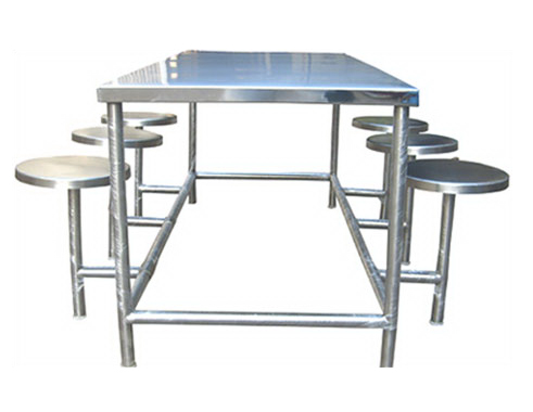 Stainless Steel Canteen Dining Table Set