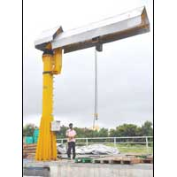 Out Door Jib Crane with Powerized Boom Rotation