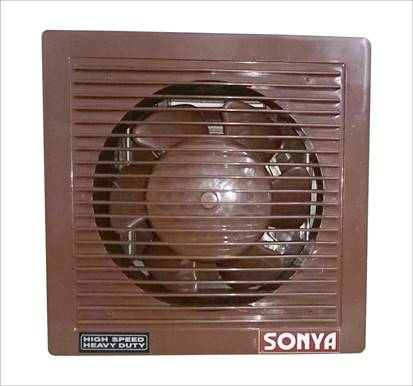 "6""High Speed Shutter Type Exhaust Fan - Brown"