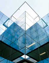 Shiny Silver Steel Structural Glazing