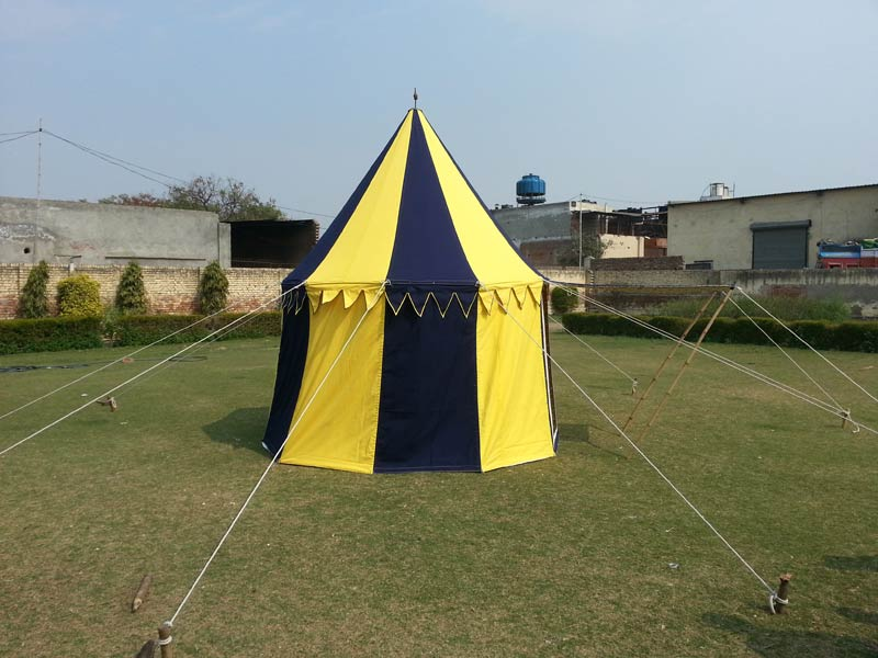 Inspired from the medieval periods imperial military c&s the Round Tents is high in demand amidst the clients across the globe. & Medieval TentsWarrior Square TentOval Tent ManufacturersRound ...