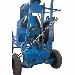 Two Pole Concrete Mixer with Mechanical Lift 04