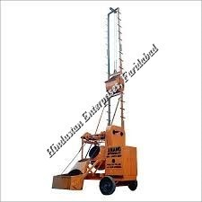 Two Pole Concrete Mixer with Mechanical Lift 05
