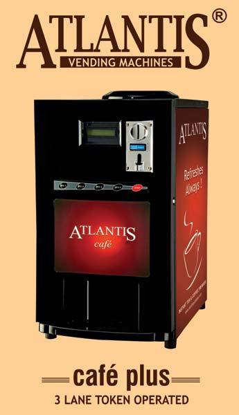Atlantis Cafe Plus 3 Lane Hot Beverage Vending Machine