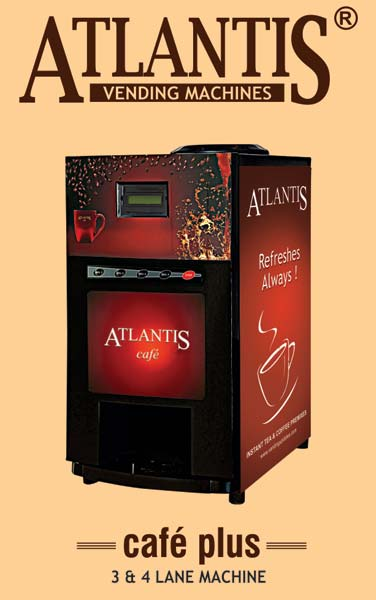 Atlantis Cafe Plus 4 Lane Hot Beverage Vending Machine