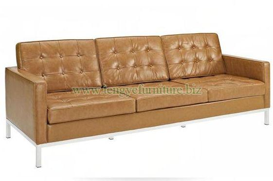 Modern Brown Chesterfield Sofa