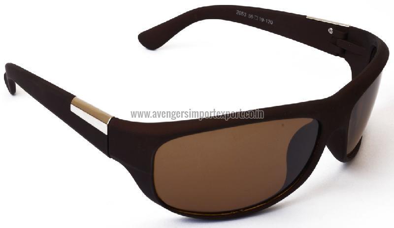 Brown Wrap Sunglasses