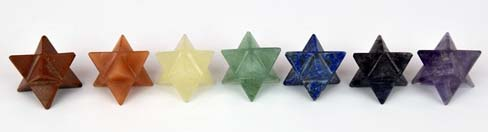 Gemstone Merkaba Stars