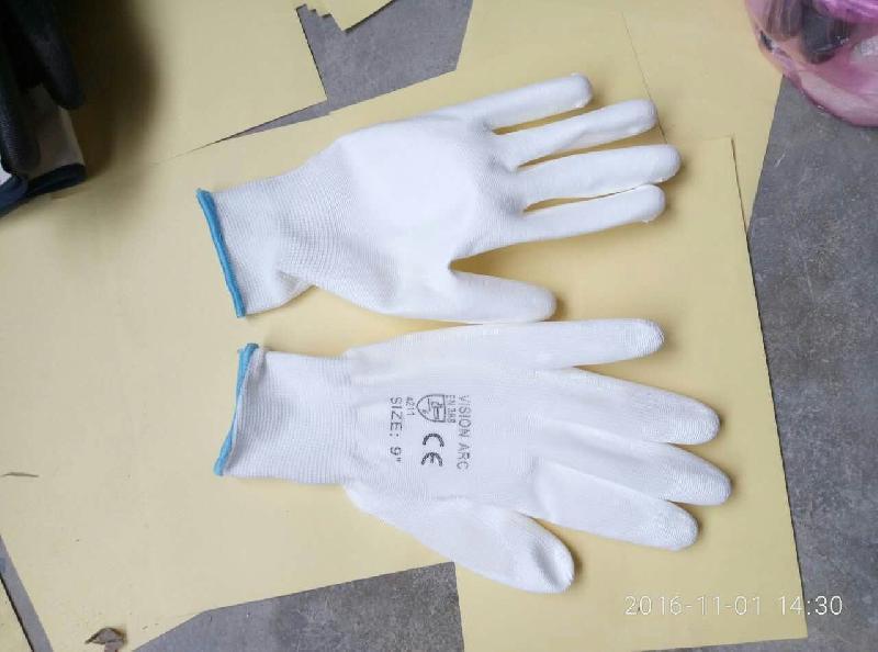 White PU Coated Gloves