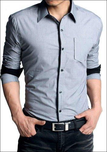 Grey Mens Formal Shirt