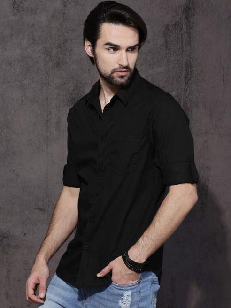 Black Mens Formal Shirt