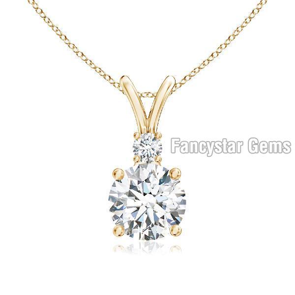 925 Silver Diamond Pendant 01