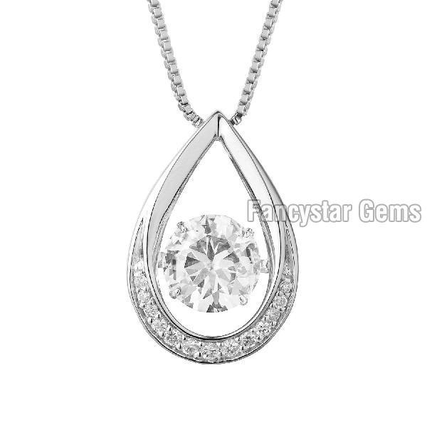 Classic Round Diamond Pendant 03