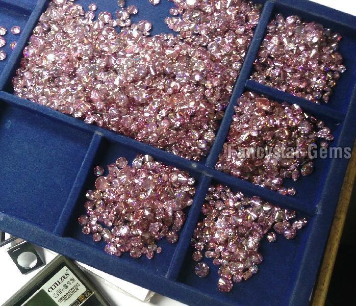Pink Color Loose Diamond