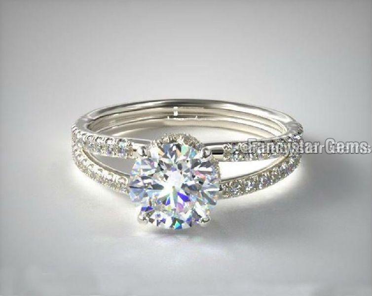 Split Shank Ribbon Engagement Rings