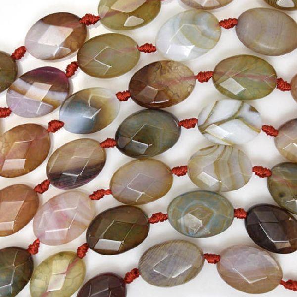 Agate Flate Oval Beads 01
