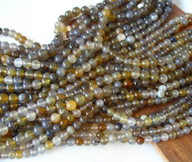 Agate Plain Beads 01
