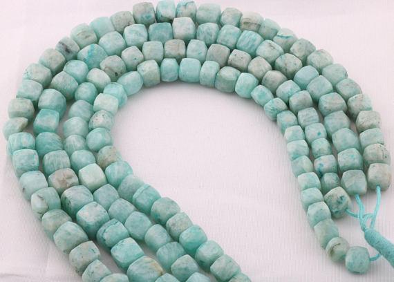 Amazonite Cube Beads 01