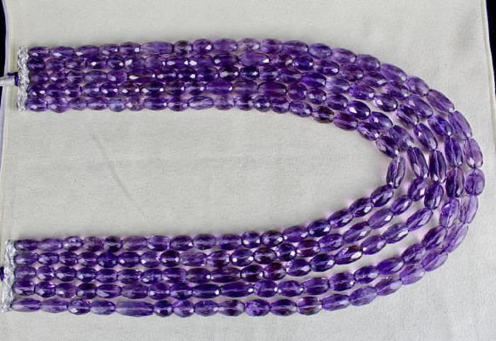 Amethyst Oval Faceted Beads