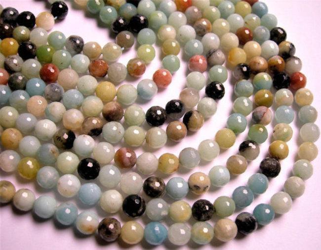 Amzonite Rondelle Beads 01