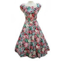 Ladies Floral One Piece Dress 02