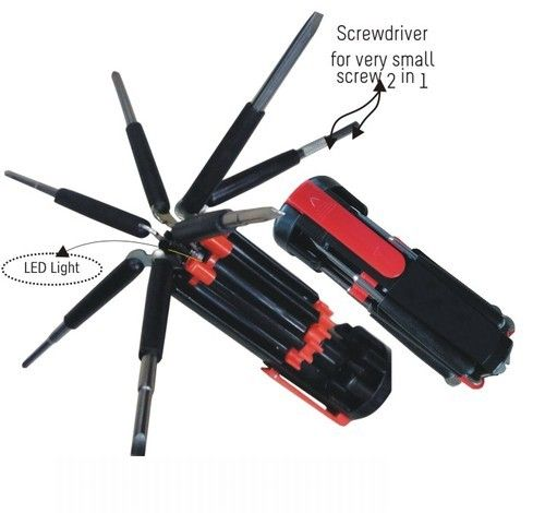 8 in 1 Screwdriver with LED Light