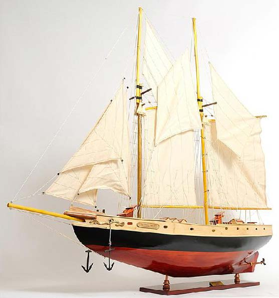 Bluenose II Painted Wooden Model Ship
