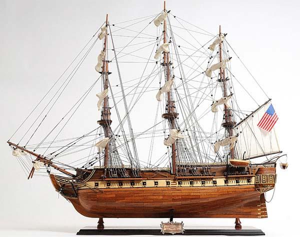 Constitution Copper Bottom E.E Wooden Model Ship
