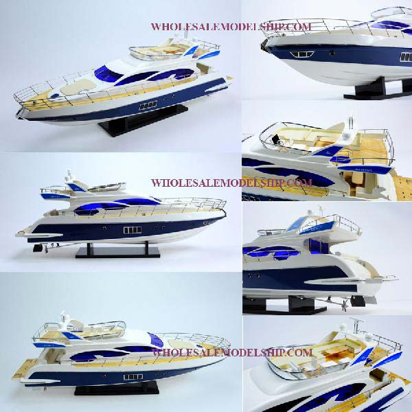 Azimut 64 Flybridge Wooden Model Boat