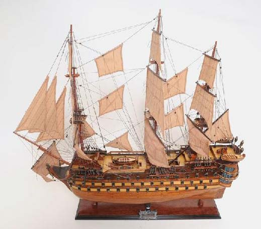 La Bretagne Wooden Model Ship